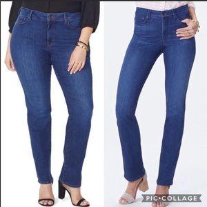 NYDJ | High waisted Marilyn straight cut jeans 8
